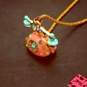 NWT ☎️ Betsey Johnson Retro Telephone Necklace